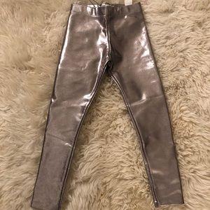 Zara Girls Metallic Leggings - NWT SIZE 7